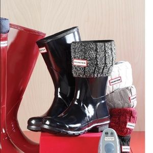 HUNTER |Original Six-Stitch Cable Short Boot Socks